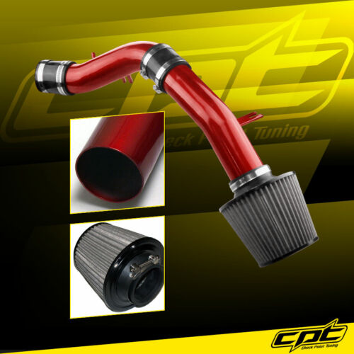 12-17 Veloster 1.6L 4cyl Non-Turbo Red Cold Air Intake Black Filter Cover