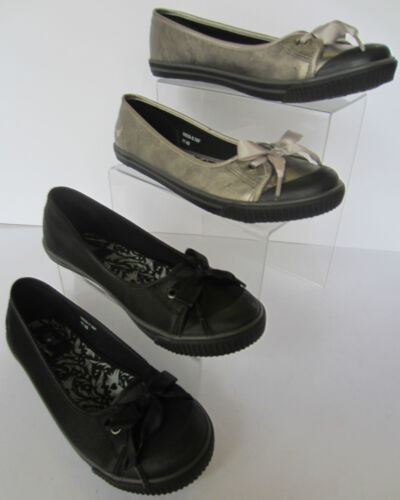 Black or Pewter Angry Angels Back To School Pumps//Shoes Diva