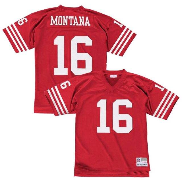 851be8c99d5 Joe Montana 1990 San Francisco 49ers Mitchell   Ness Home Red Legacy Jersey  Men