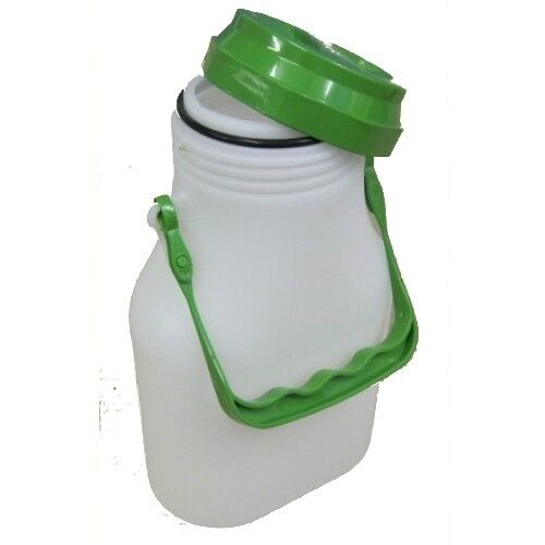 Milk Container (oval) with screw lid, 2 litre capacity