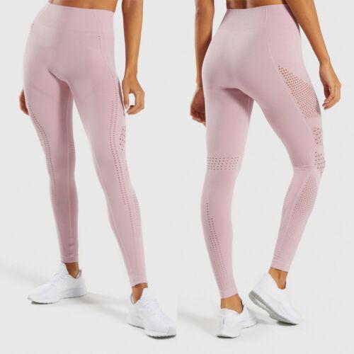 Women Seamless Yoga Leggings High Waist Camo Compression Workout Pants Running