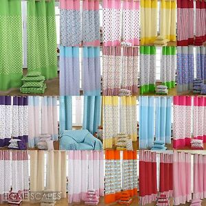 Good Image Is Loading Homescapes Cotton Patchwork Curtains  Ready Made Eyelet Ring