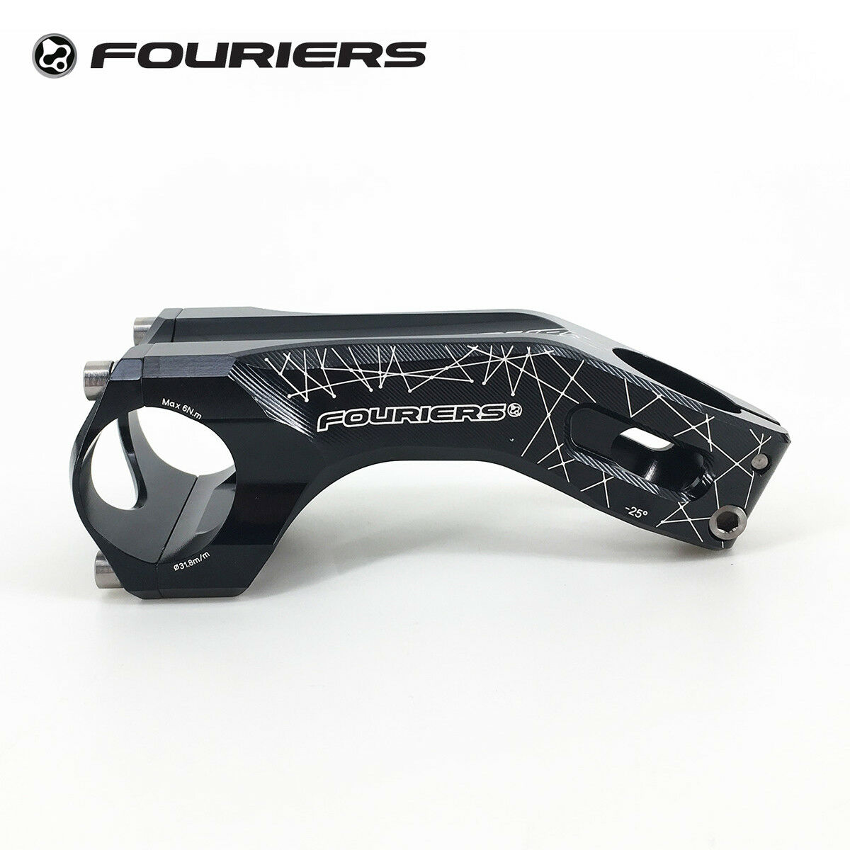 Fouriers Aluminum MTB Bike Stem 17 Degrees 25 Degrees XC Stems 1 1 8  28.6mm