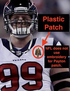 hot sale online 65cfd 6241b Details about JJ Watt Walter Payton Man of Year Football Jersey Patch  Houston Texans helmet
