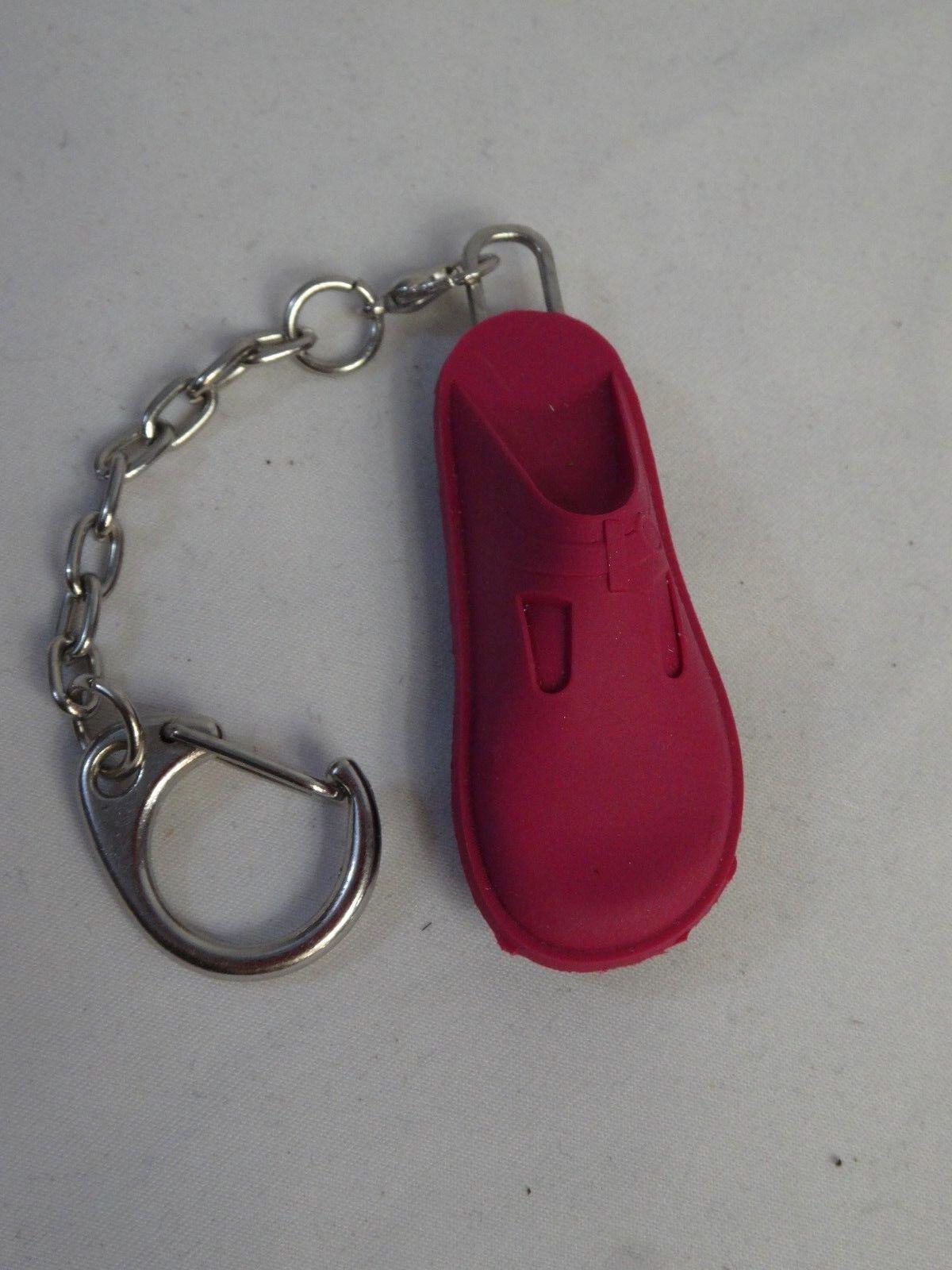 New ALEGRIA Mini Rubber Shoe Key Chains Shoe Charm Fuchsia Pink