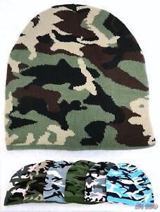 Bulk lot of 96 Assorted Digital /& Basic Camo Camouflage Winter Knit Beanie Hats