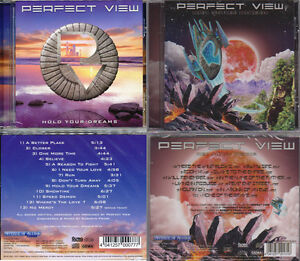 2 CDs, Perfect View - Hold Your Dreams +1 (2010) + Red Moon Rising (2014) AOR