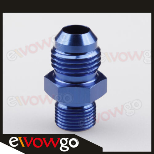 Metric Straight Fitting Blue 6AN 6AN AN6 AN-6 Male Flare To M12 x 1.5 mm