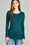 Basic-Long-Sleeve-Solid-Top-Womens-Plain-Cotton-T-Shirt-Stretch-Tight-Crew-Neck thumbnail 17