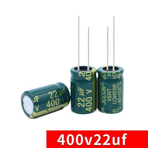 10PC 400V 22uF High Frequency LOW ESR Radial Electrolytic Capacitors 13mmx21mm