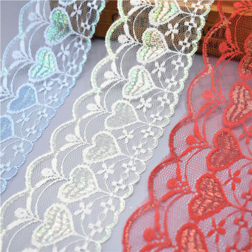 Hot 10 Yards Lace Ribbon 78mm Trim DIY accessory Embroidered Net Cord Decoration