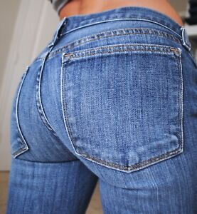 J-Crew-Toothpick-Skinny-Low-Rise-womens-Denim-blue-Jeans-size-4-27-ankle