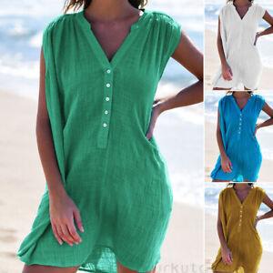 Women-Beach-Wear-Beachwear-Swimwear-Bikini-Cover-Up-Kaftan-Ladies-Summer-Dress