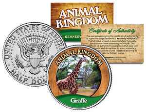 GIRAFFE-Animal-Kingdom-Series-JFK-Kennedy-Half-Dollar-U-S-Coin