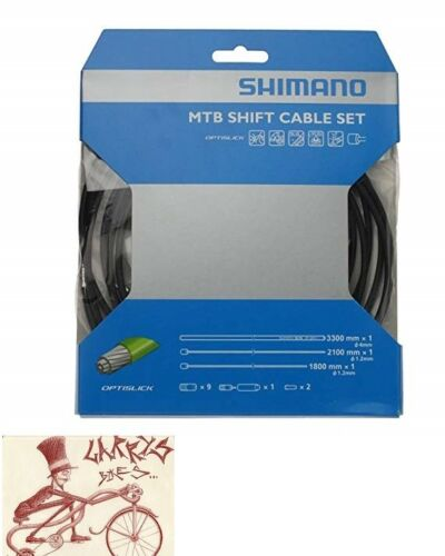 SHIMANO MTB OPTISLICK BLACK SHIFTER DERAILLEUR CABLE AND HOUSING SET