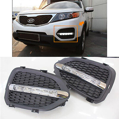 LED Day Light Fog Lamp with Cover Assembly LH RH For 11 12 13 Kia Sportage R