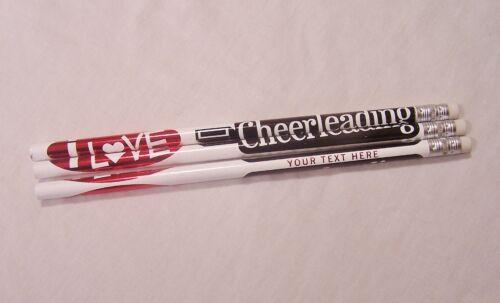 12  I LOVE CHEERLEADING Personalized Pencils