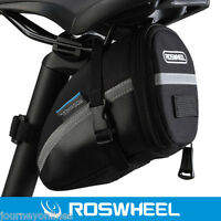 Roswheel Outdoor Cycling Bike Saddle Bag Seat Tail Pouch Black