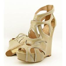 Alejandro Ingelmo Spider Women US 8 Tan Peep Toe Wedge Heel Blemish  15749