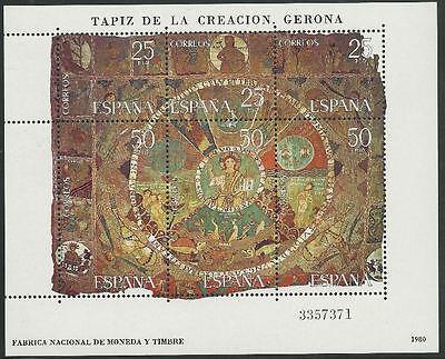 Motive Wandteppich! Briefmarken Spanien Aus 1980 ** Postfrisch Block 22 Minr.2476-2481