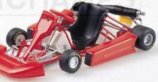 Minichamps 430 090001 GO KART ROSSO CON Nero Sedile pressofusione modello 1:43 Scala