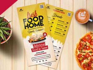 takeaway menu design folded leaflet a4 to a5 fold a4 tri fold ebay
