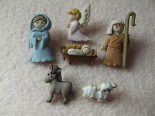 Vestirla Botones ~ Navidad Collection ~ Natividad ~ Mary, Joseph, Jesús +
