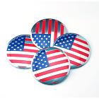 4Pcs Metal USA Flag Logo Car Wheel Center Label Hub Cap Emblem Sticker Decal CN