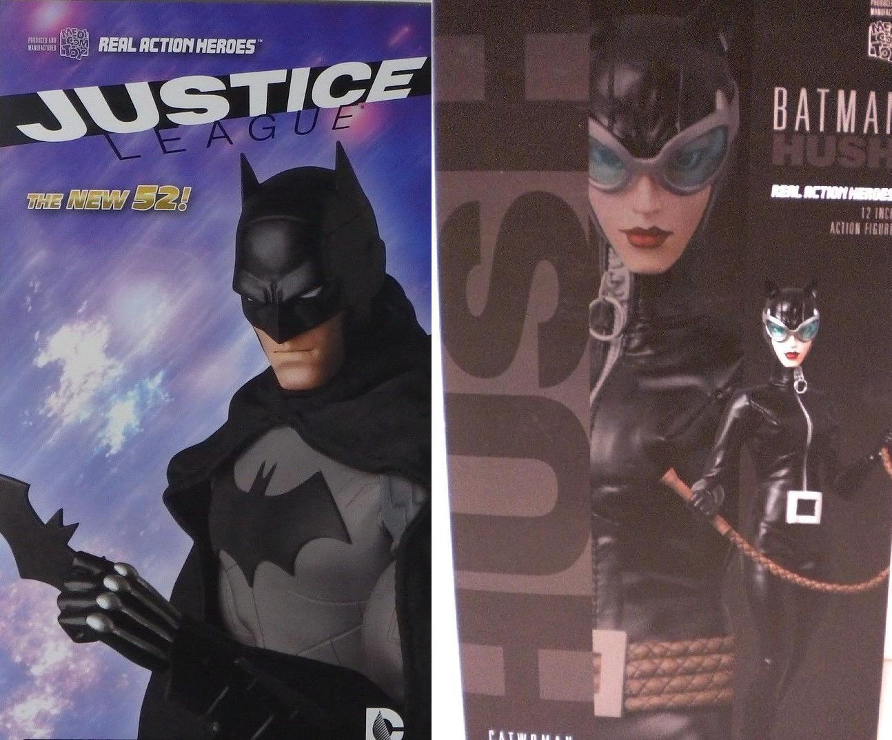 Medicom 1 6 Anime DC BATMAN Dark Knight NEW 52 and Catwoman HUSH Lot of 2 MIB
