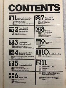 Repair-Manual-Chilton1978-1989-Dodge-Plymouth-Omni-Charger-Rampage-TC3-Tourismo
