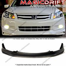 For 08 09 10 Honda Accord 4-cyl I4 Sedan MU Style Front Bumper Chin Lip Spoiler