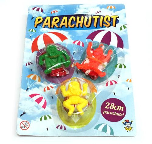 3 x parachutiste Throw Fly Toy Boy Girl cadeau fun Faveur Fête D/'Anniversaire Sac De Remplissage