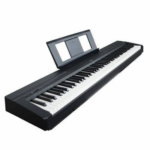 yamaha p45b digital piano black for sale online ebay. Black Bedroom Furniture Sets. Home Design Ideas