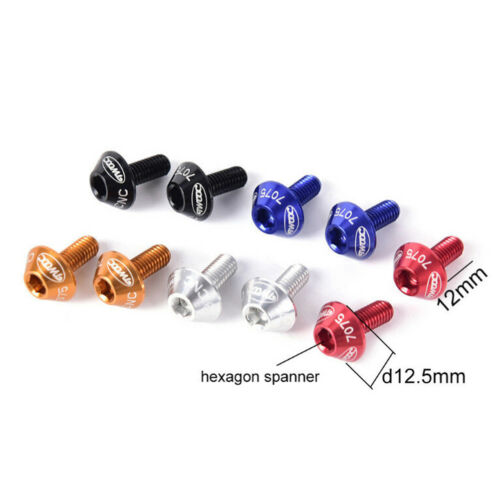 Bicycle Water Bottle Cage Holder Screw Bolts Durable Colorful Bike Accessory TPD