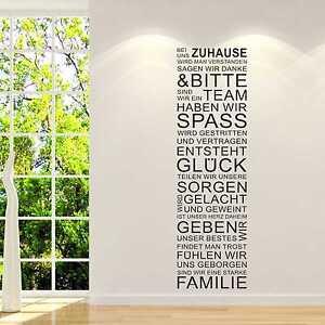 Exceptional Das Bild Wird Geladen Wandtattoo Wandsticker Wandaufkleber Wohnzimmer Bei  Uns Zuhause Familie