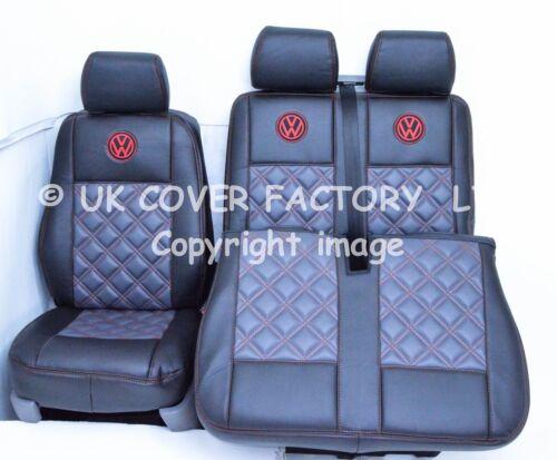 VW TRANSPORTER T5  VAN SEAT COVER GREY BLACK BENTLEY A7