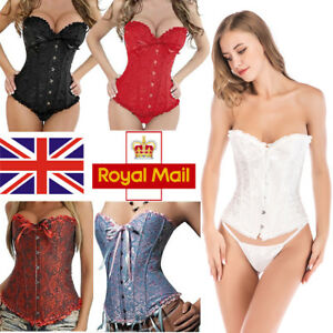92151e9058 Image is loading Lady-Slimming-Corset-And-Basques-Waist-Traniner-Bustier-