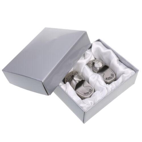 Niedlich mein erster Zahn u Locken silberne Trinket Box Set Andenken