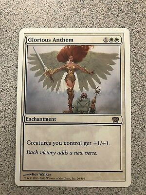 1//+1 NM* MTG 1x GLORIOUS ANTHEM 10th *All Creatures