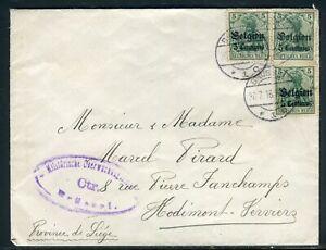 Belgique - Enveloppe De Bruxelles Pour Hodimont- Verviers En 1916 - Réf M109