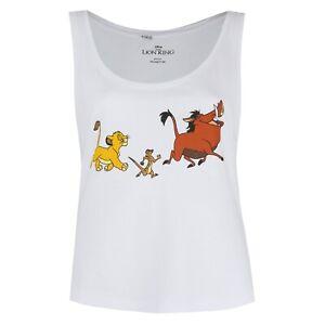 Disney-Lion-King-Trio-Official-Ladies-Vest-Top-White-Sizes-S-XL