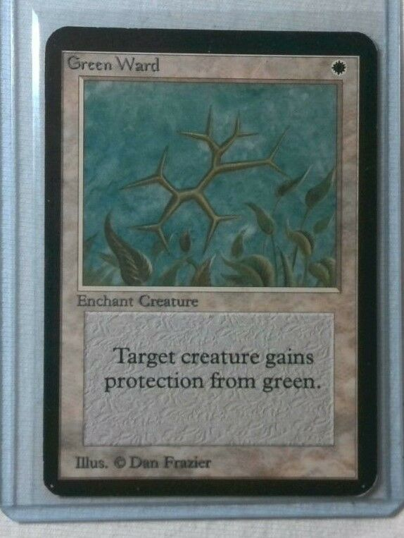 MTG Limited Edition Alpha Green Ward Uncommon 93 94