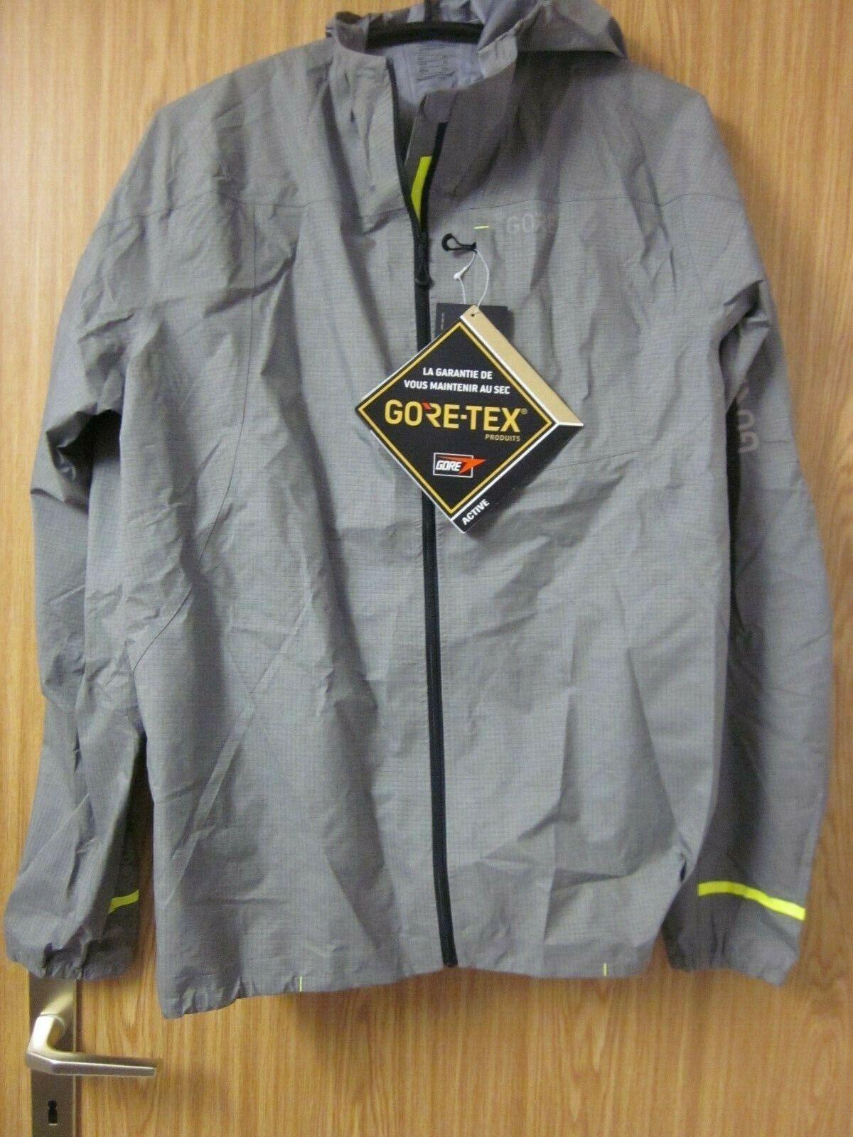 Gore c5 active hooded Jacket bicicleta-lluvia chaqueta con capucha 100254 Terra gris