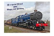 Steam Train  Birthday A5 Card Personalised Dad Granda Uncle Brother Friend Son