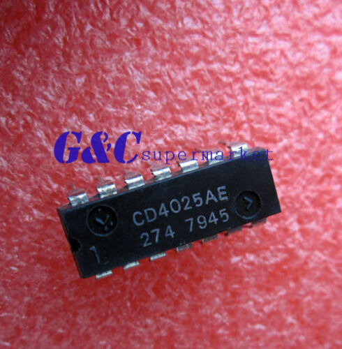 10PCS CD4025AE  DIP IC RCA NEW