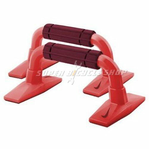 Red NIKE Push Up Grips Workout Training Grips 2.0