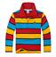 Brand New Kids Boys Long Sleeve Polo T-Shirt  Size 2-14 Years 6 x Designs