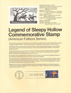 7418-10c-Sleepy-Hollow-Stamp-1548-Souvenir-Page