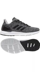 2590c7c6663a3 Adidas Cosmic 2.0 Cloudfoam Running Shoes Black White Grey B44748 ...