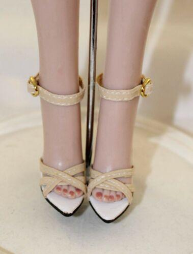 Cream Ready to Rumba High Heels Shoes 72mm American Model Evangeline Tonner